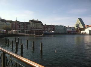One of my favorite views at Walt Disney World - outside the Boardwalk Bakery
