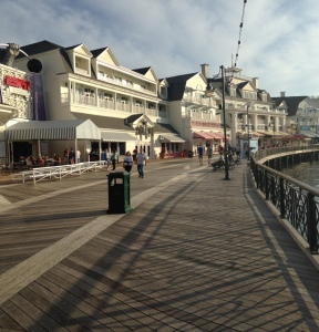 The Boardwalk, outside the Boardwalk Bakery.