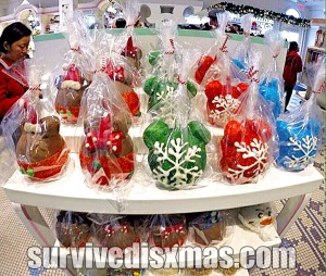 Candy Apples decorated for Christmas!