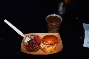 Tuna Poke, Pork Slider and a Kona Beer